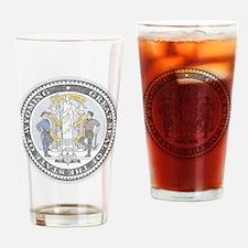 Vintage Wyoming Seal Drinking Glass