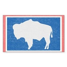 Wyoming State Flag Decal