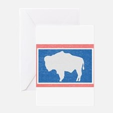 Wyoming State Flag Greeting Card