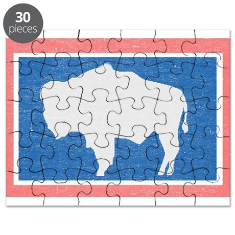 Wyoming state flag puzzle by nationalvintage for Wyoming flag coloring page