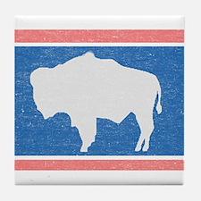 Wyoming State Flag Tile Coaster