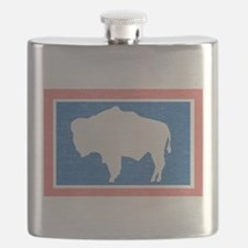 Wyoming State Flag Flask