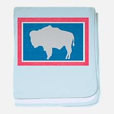 Wyoming State Flag baby blanket