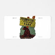 Vintage Yellowstone Aluminum License Plate
