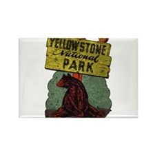 Vintage Yellowstone Rectangle Magnet