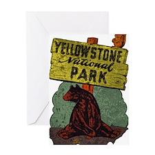 Vintage Yellowstone Greeting Card