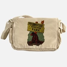 Vintage Yellowstone Messenger Bag