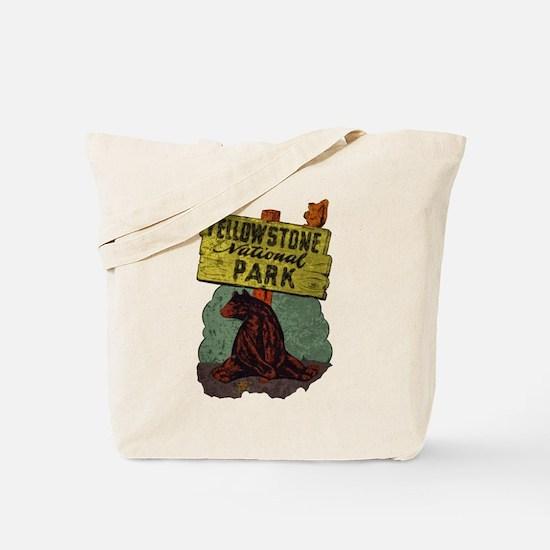 Vintage Yellowstone Tote Bag