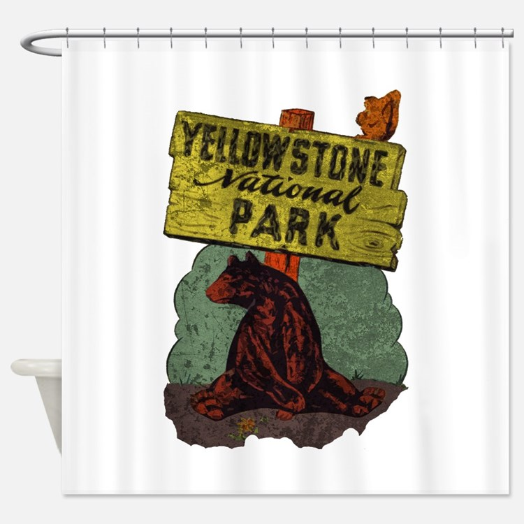 Vintage Yellowstone Shower Curtain