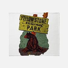 Vintage Yellowstone Throw Blanket