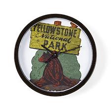 Vintage Yellowstone Wall Clock