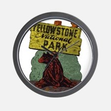 Vintage Yellowstone Wall Clock