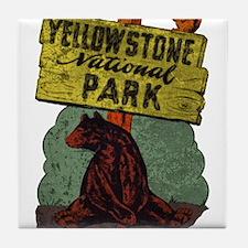 Vintage Yellowstone Tile Coaster