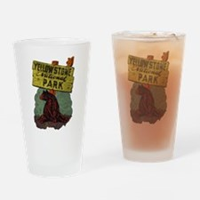 Vintage Yellowstone Drinking Glass