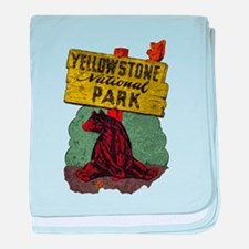 Vintage Yellowstone baby blanket