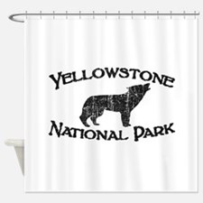 Yellowstone Wolf Shower Curtain