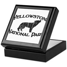 Yellowstone Wolf Keepsake Box