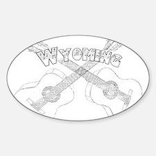 Wyoming Guitars Decal