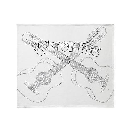 Wyoming Guitars Throw Blanket