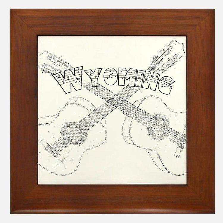 Wyoming Guitars Framed Tile