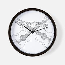 Wyoming Guitars Wall Clock
