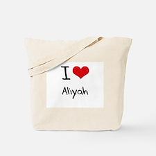 I Love Aliyah Tote Bag