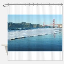 Golden Gate Bridge Sudsy Shoreline Shower Curtain