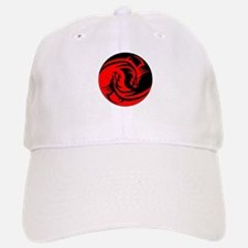Red And Black Yin Yang Dragons Baseball Baseball Cap