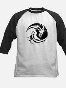 Black And White Yin Yang Dragons Baseball Jersey