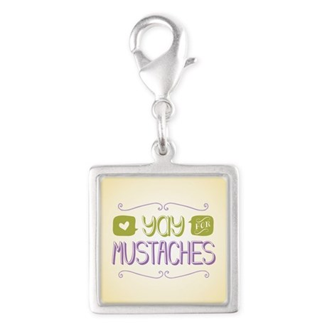 Yay for Mustaches Charms