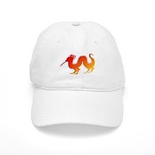 Red and Orange Dragon Baseball Cap