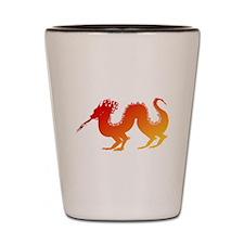 Red and Orange Dragon Shot Glass