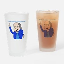 Ben Franklin Says Drinking Glass
