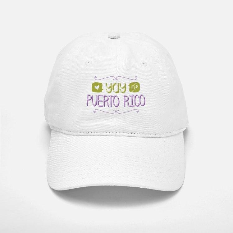 Yay for Puerto Rico Baseball Baseball Baseball Cap