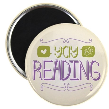 """Yay for Reading 2.25"""" Magnet (10 pack)"""