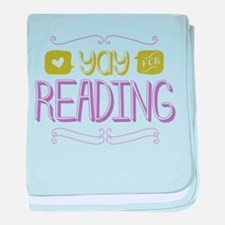 Yay for Reading baby blanket