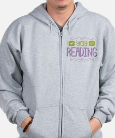Yay for Reading Zip Hoodie
