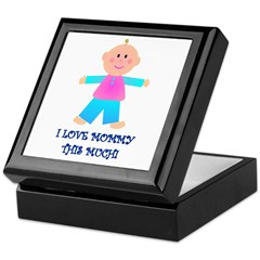 I LOVE MOMMY GIRL Keepsake Box
