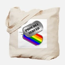 Proudly Served Tote Bag