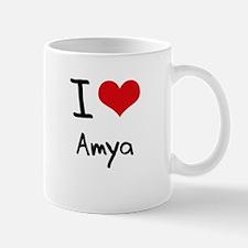 I Love Amya Small Small Mug