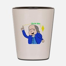 Ben Franklin Discovers Electricity Shot Glass