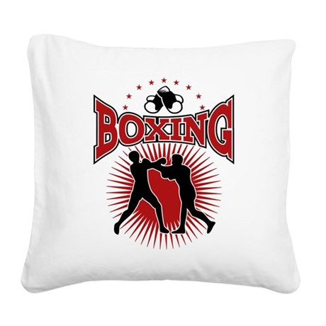 boxing Square Canvas Pillow