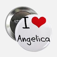 """I Love Angelica 2.25"""" Button"""