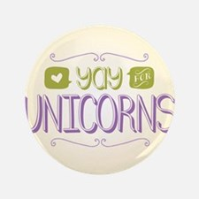 """Yay for Unicorns 3.5"""" Button (100 pack)"""
