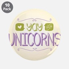 """Yay for Unicorns 3.5"""" Button (10 pack)"""