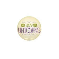 Yay for Unicorns Mini Button (100 pack)