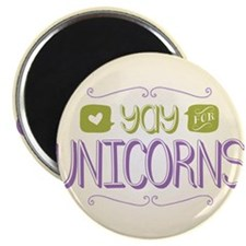 """Yay for Unicorns 2.25"""" Magnet (10 pack)"""