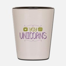 Yay for Unicorns Shot Glass