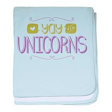 Yay for Unicorns baby blanket