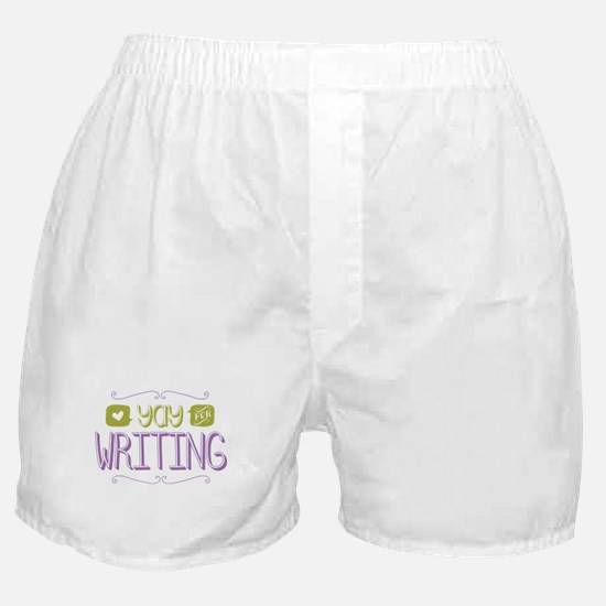 Yay for Writing Boxer Shorts